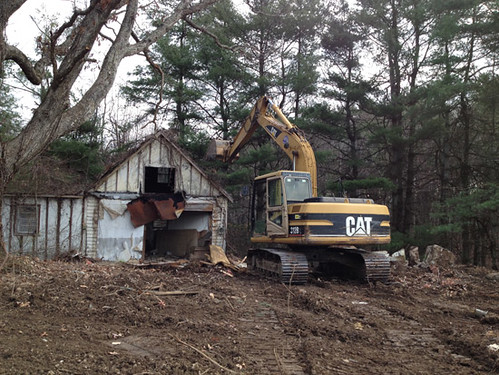 Old house being demolished