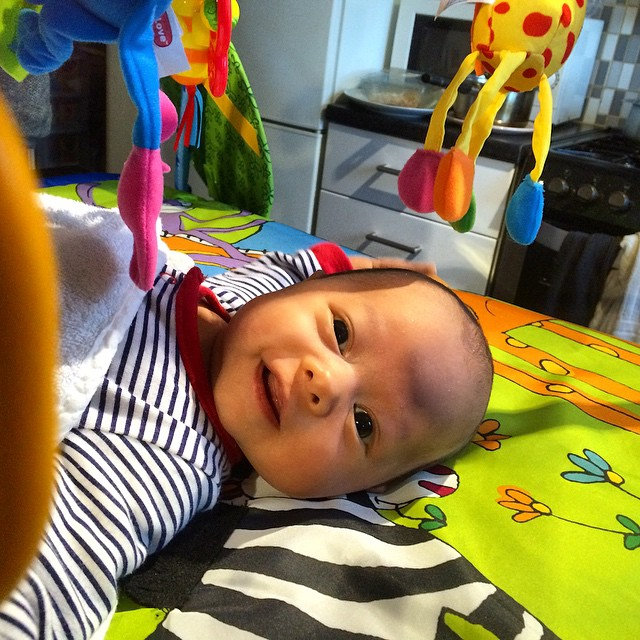 Baby Ollie smile #baby #portrait #playmat #laughing #smile #happy #toys
