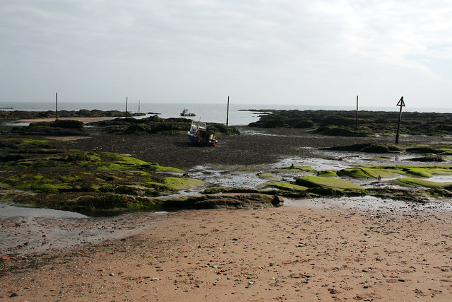 The coast east of Carnoustie