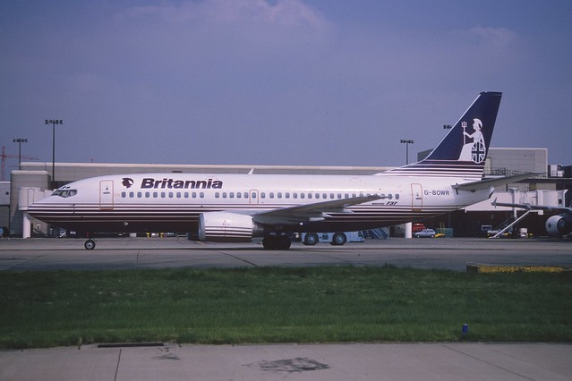 Britannia Airways Boeing 737-300; G-BOWR, June 1989/ ATD