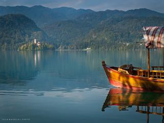 Wooden Pletna, Lake Bled, Slovenia