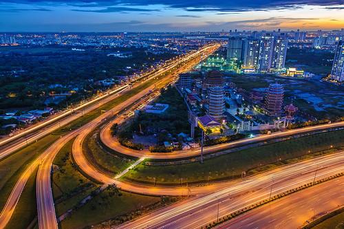 sunset landscape vietnam hochiminhcity