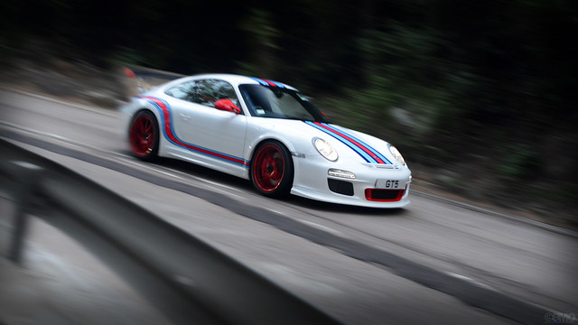 Porsche 911 997 GT3 in Martini Livery RS in Hong Kong