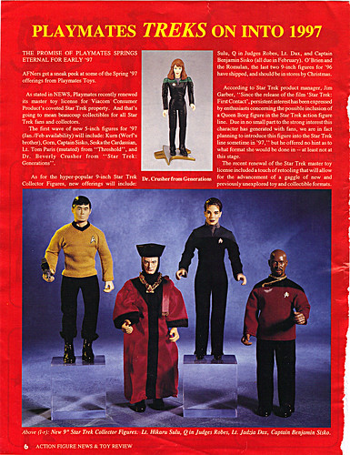 """ACTION FIGURE NEWS & TOY REVIEW : """"PLAYMATES TREKS ON INTO 1997"""" pg.6 (( 1997 )) by tOkKa"""