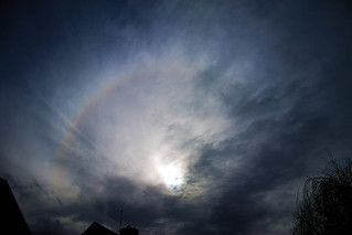 Partial 22 degree solar halo 2:25pm 23/02/15 | by Mary McIntyre nee Spicer