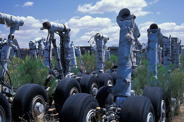 airplane boneyard. tucson, az. 1999.