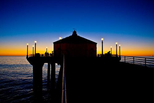 california sunset sea people favorite usa seascape beach sunrise evening pier manhattan wharf highquality