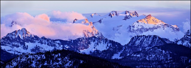 Mount Daniel at Sunset