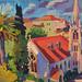 'L'Eglise de Rue Maccarani, Nice'; 33x25cm; Gouache on board;