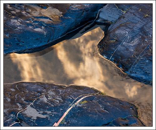 blue sunset reflection beach pool closeup landscape coast rocks things pembokeshire druidstonhaven photostyles