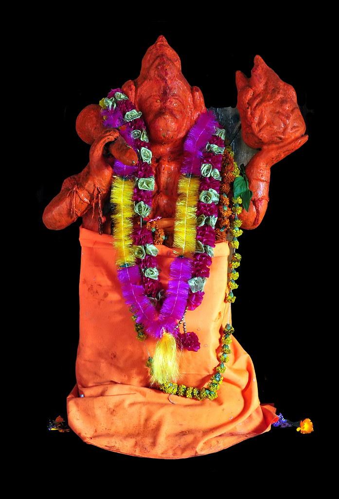 India - Old Manali - Manu Temple - Hanuman - 5b | Hanuman is