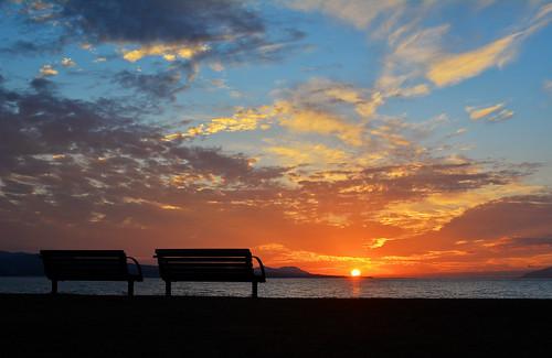 sunset japan nikon shimane matsue shinji lakeshinji 2485mm d7100 shinjilake