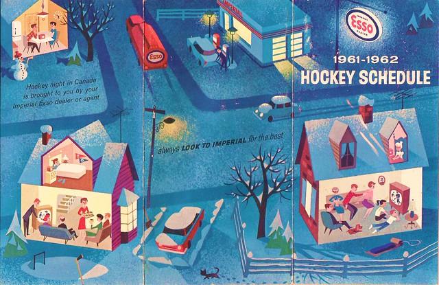 Esso Canada Hockey Schedule, 1961-62