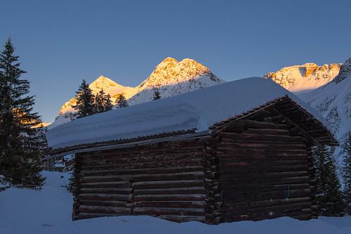 alpes suiza invierno arosa esqui