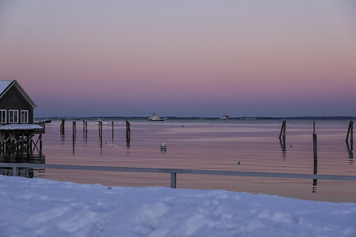 sunset rockland maine me publiclanding thepearl winter february snow snowbank cold 365 kats365