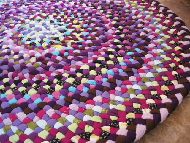 ... Handmade Braided Rug in Shades of Purple | by Mrs Ginther