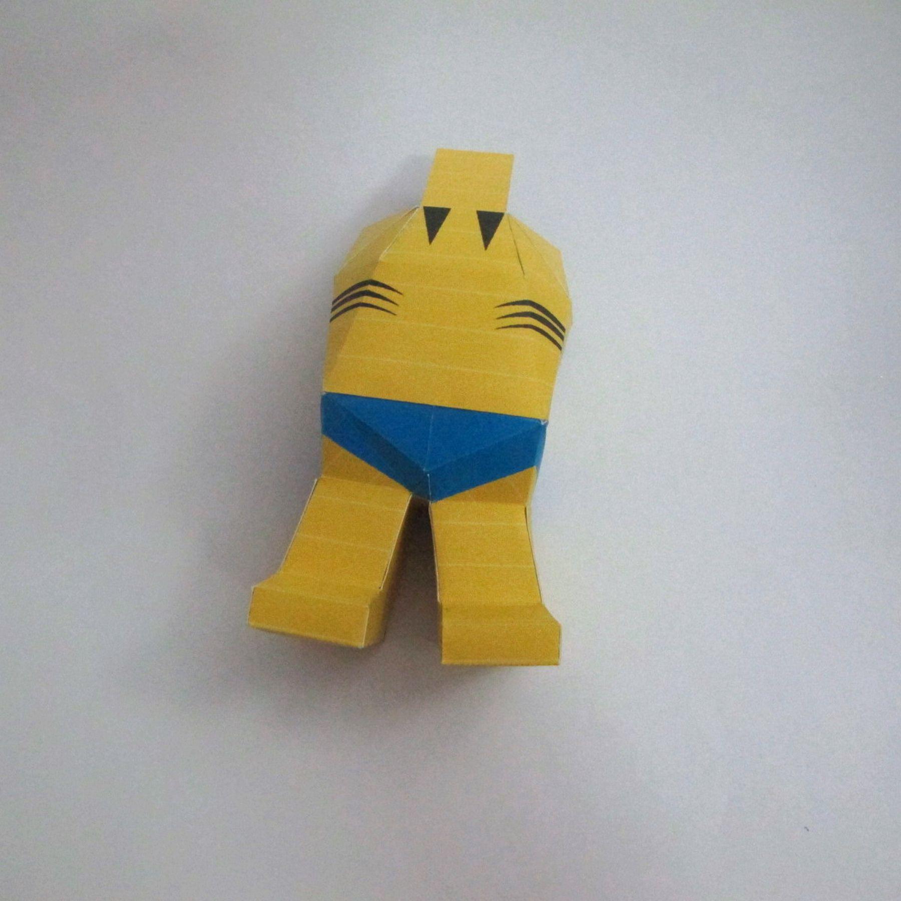 วิธีทำของเล่นโมเดลกระดาษ วูฟเวอรีน (Chibi Wolverine Papercraft Model) 029