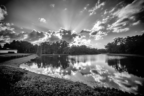 sunset sun white black reflections florida rays lithia