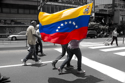 Venezuelan Flag during a protest | by Alexis Espejo