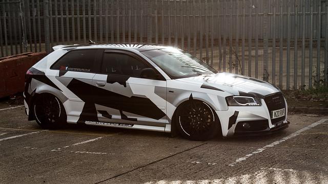 Camo Audi Winter sun