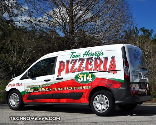 Ford Transit Connect vehicle wrap by TechnoSigns in Orlando