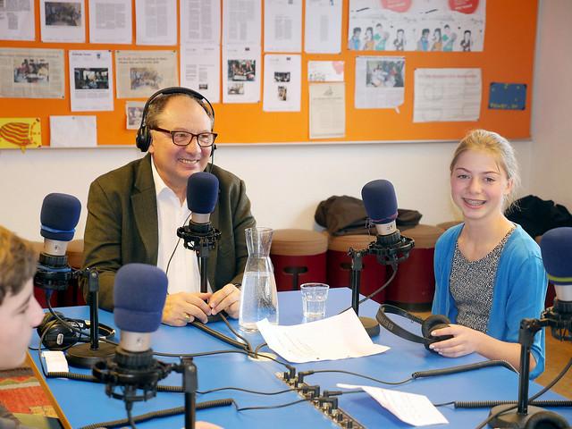 Beni Thurnheer besucht Kinderdorf Pestalozzi 20150218