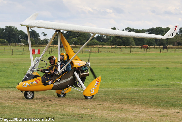 G-OTOP - 2009 build P & M Aviation QuikR, taxiing for departure at Old Warden during the 2016 Gathering of Moths