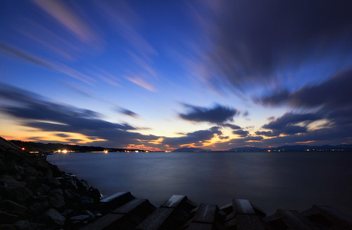 longexposure sunset sky cloud lake motion nature clouds nikon purple dusk 日本 shimane nano magichour matsue lakeshinji d600 松江 宍道湖 1635mm 山陰
