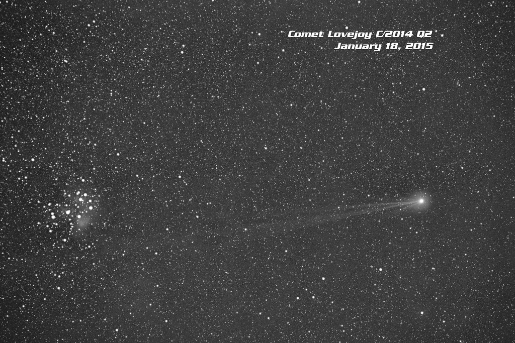 Comet Lovejoy C/2014 Q2 on Jan. 18, 2015 from Alda, Nebraska