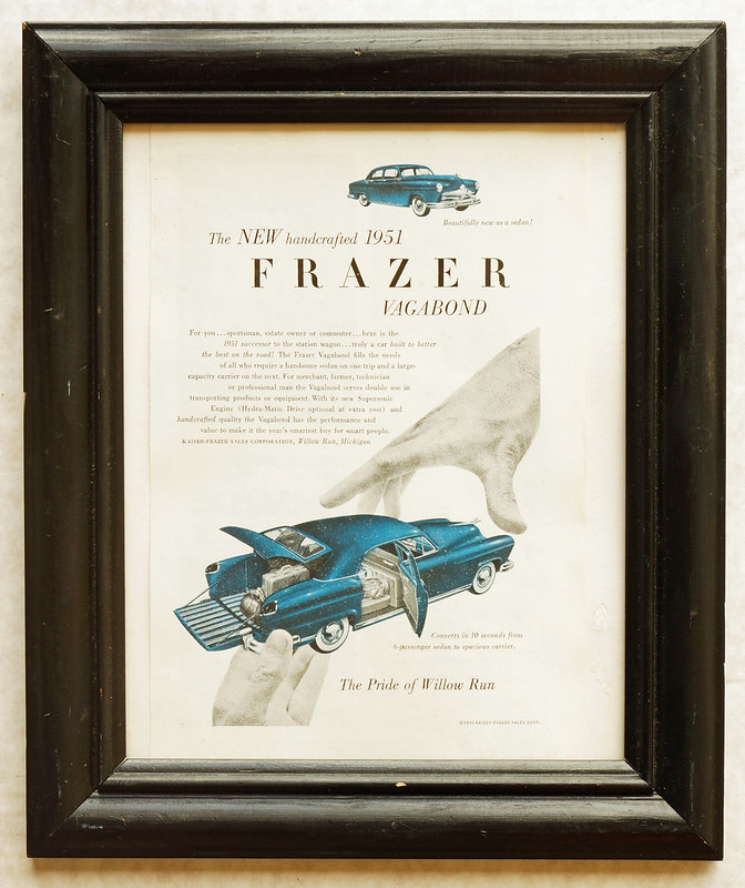 CM019 1951 Frazer Car Ad Framed DSC04197