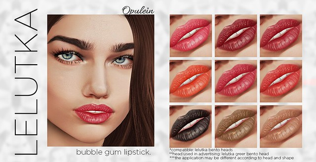 Opulein - Bubble Gum Lipstick for LELUTKA