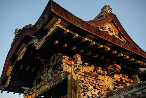 京都市 京都府 japan kyoto 西本願寺 寺院 temple 世界遺産 worldheritage 日の出 sunrise