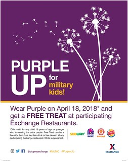 Purple Up Day - Free Treat at the Exchange | by Army & Air Force Exchange Service PAO