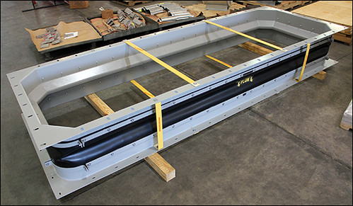 "153"" Neoprene Expansion Joint for an Air Recirculation/Ventilation Application at a Gas Turbine Facility in Hungary"