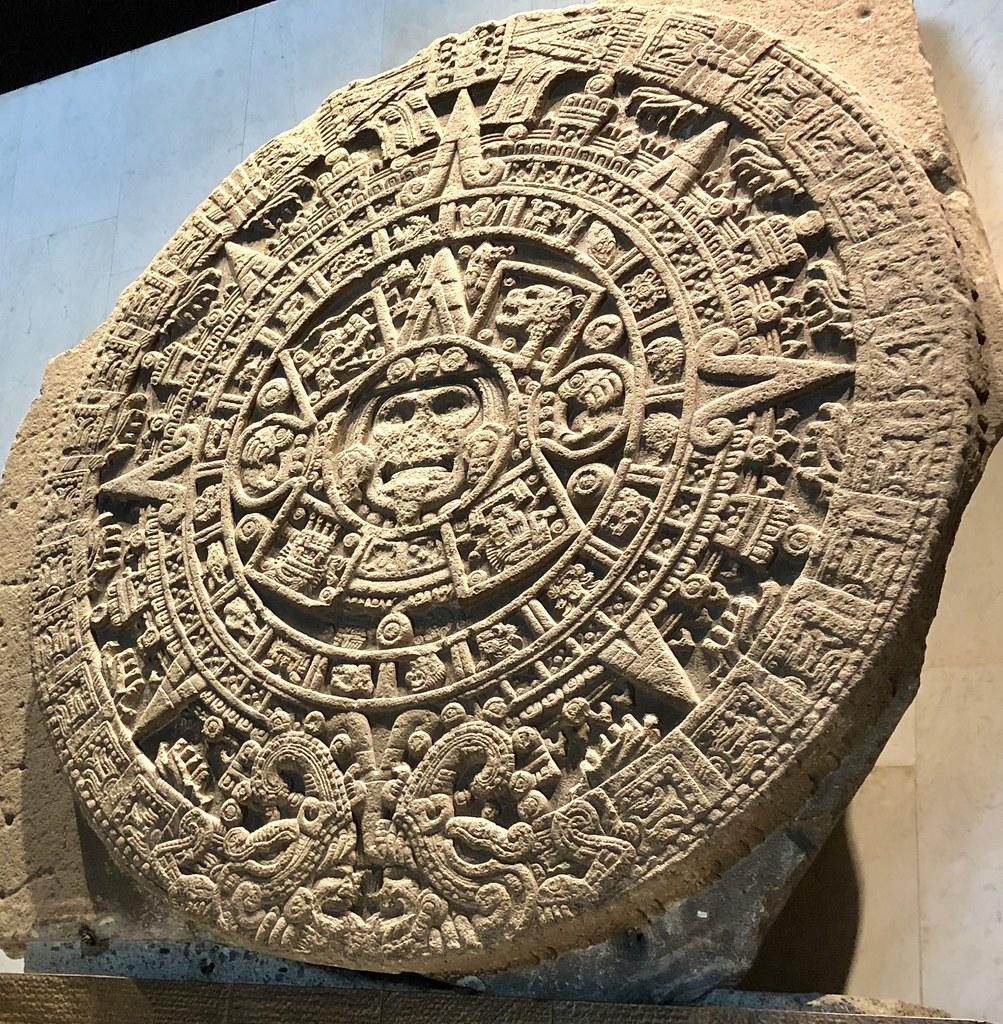Aztec Calendar Stone.Giant Aztec Calendar Stone National Museum Of Anthropolog Flickr