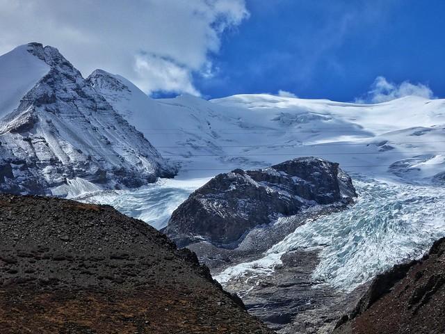 Montañas y glaciares en el Himalaya
