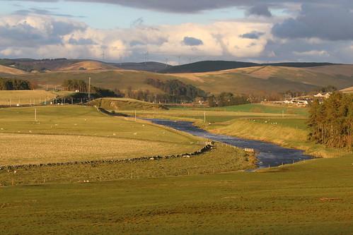abington riverclyde scotland scenery water burn pool hills pasature
