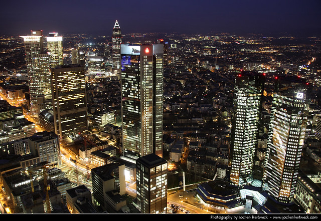 View from Main Tower @ Night, Frankfurt, Germany