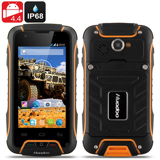 Huadoo V3 Rugged IP68 Phone – Waterproof, Dust Proof, 4 Inch Display, MTK6582 1.3GHz Quad Core CPU, 3G, Android 4.4 OS (Yellow) | by shopsmileprize