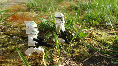 Lego clones outdoors