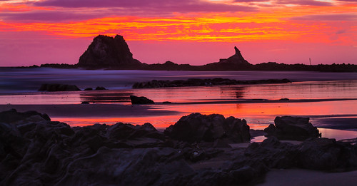 newzealand summer beach sunrise landscape cloudy outdoor mangawhai