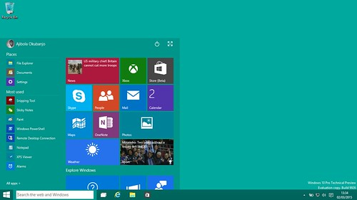 Windows 10 Pro Technical Preview | by okubax