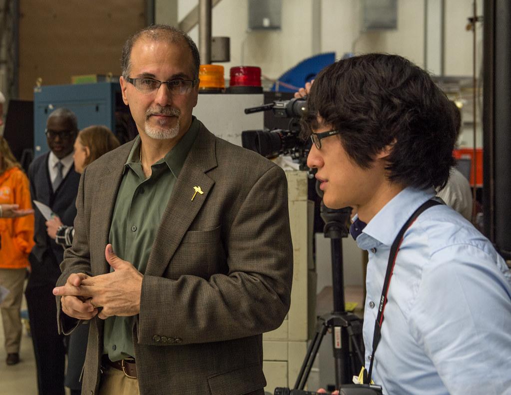 Al Vernacchio, NASA DSCOVR Project Manager, at DSCOVR Media Day (Nov. 5, 2014)