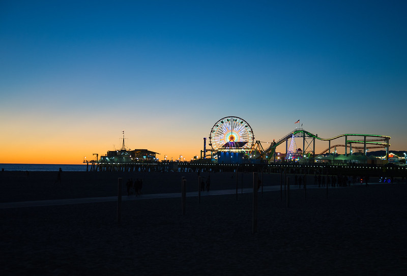 Santa Monica Pier...last light of the day