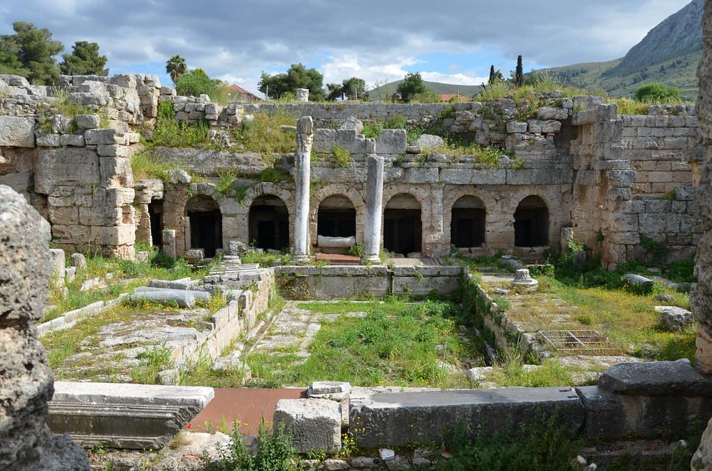 The Fountain of Peirene, Corinth, Greece | Carole Raddato | Flickr