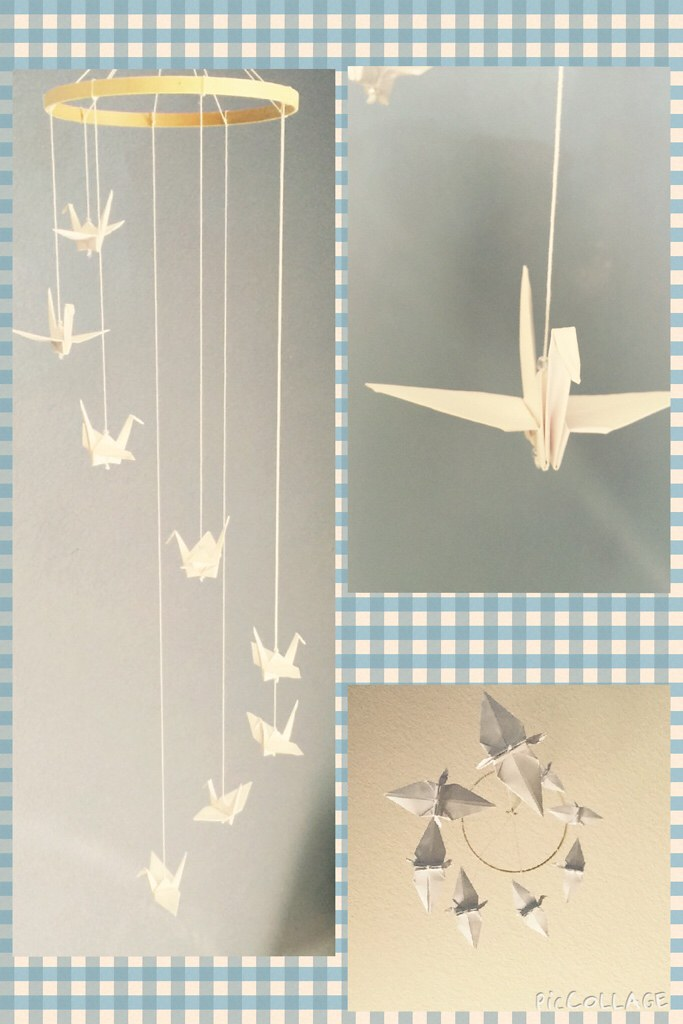 Custom origami crane mobiles medium size Baby Shower | Etsy | 1024x683