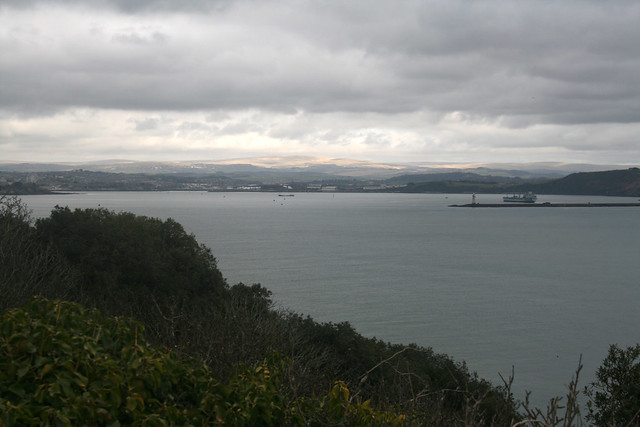 View over Plymouth sound near Cawsand
