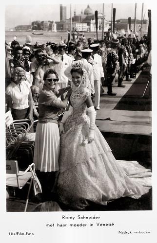 Romy Schneider and Magda Schneider in Venice