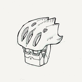 I think it's too big for my head! #sketch #drawing #cycling   by Tom Cardo-Moreno