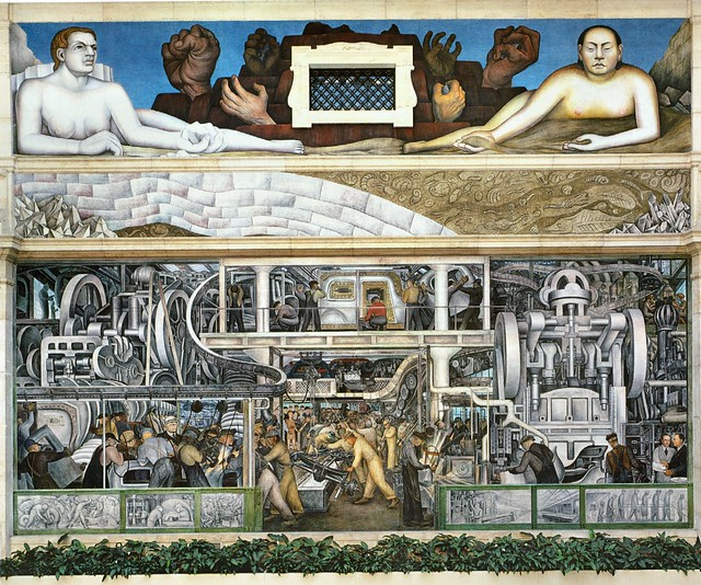 Diego Rivera. DETROIT INDUSTRY or MAN AND MACHINE. 1932-1933